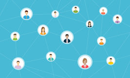 Social network connection for online business Stock Images