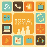 Social network cream Royalty Free Stock Images