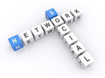 Social Network Cubes Stock Photo