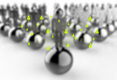 Social network 3d as concept Stock Image