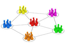 Social network. 3d generated picture of a social network concept vector illustration