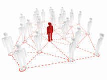 Social network. 3d high quality render Royalty Free Stock Images