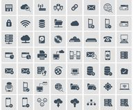 Social network, data analytic, mobile and web application icon set. Flat vector. Illustration vector illustration