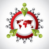 Social network design with 3d button. For websites Stock Photo