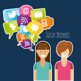 Social network design Royalty Free Stock Photo