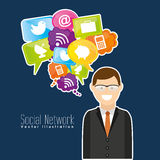 Social network design Royalty Free Stock Images