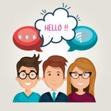 social network design Royalty Free Stock Image