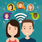 Social network design. Illustration eps10 graphic Stock Photos