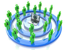 Social network. For the design of information related to the communication and people Stock Images