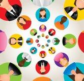 Social network design Stock Image