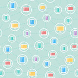 Social network devices pattern Royalty Free Stock Photos