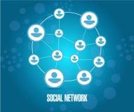 Social network diagram illustration Royalty Free Stock Photography