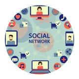 Social network emblem. Stock Photo