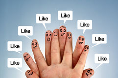 Social network family Stock Photo
