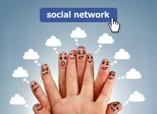 Social network family Stock Photos