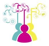Social network Stock Image