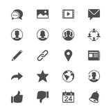 Social network flat icons Stock Images