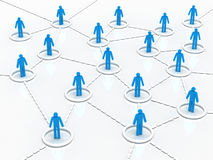 Social Network. In the form of people in the circles which are connected Stock Photos