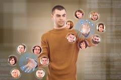 Social network friends circle vector illustration