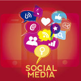 Social network functions Royalty Free Stock Photography