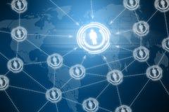 Social network futuristic touchscreen Royalty Free Stock Photos