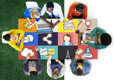 Social Network Global Communications Connection Concept.  royalty free stock photography