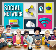Social Network Global Communications Networking Concept Royalty Free Stock Image