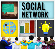 Social Network Global Communications Technology Connection Conce. Pt royalty free stock photo