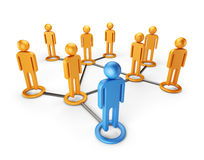 Social network global community. 3D  Stock Image