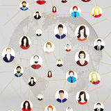 A social network Royalty Free Stock Images