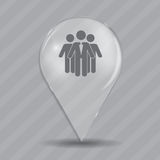 Social Network  Glossy Icon Vector Illustration Stock Photography