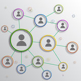 Social network. Of group of people stock photography
