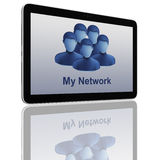 Social Network Group of Tablet Computers Stock Image
