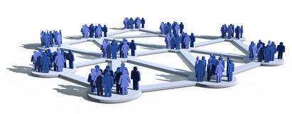 Social network with groups stock illustration