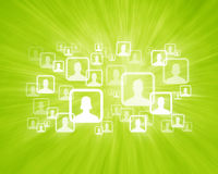 Social Network Groups. User Icons on Social Media Network Stock Images
