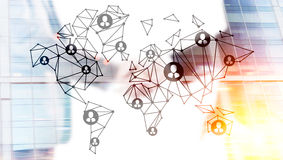 Social network and handshake vector illustration