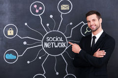 Social network. Royalty Free Stock Photography