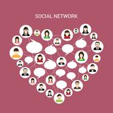 Social network heart Royalty Free Stock Photos