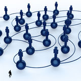 social network human 3d as concept Royalty Free Stock Image