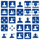 Social network icon. Set of 25 blue social network icons. Vector available Royalty Free Stock Images