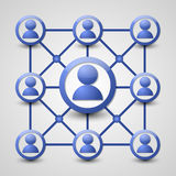 Social network icon Royalty Free Stock Photography