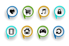 Social network icon bubble on white background Royalty Free Stock Image