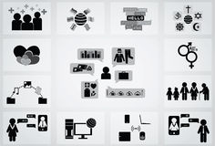 Social network icon Stock Photography