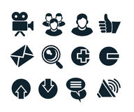 Social network icon set Royalty Free Stock Photo