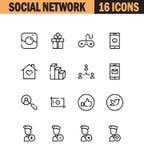 Social network icon set Royalty Free Stock Photos