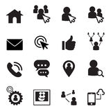 Social Network icon set Royalty Free Stock Images