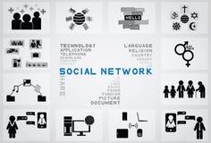 Social network icon Royalty Free Stock Photos