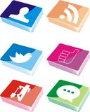 Social network icons Stock Images