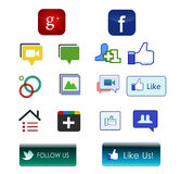 Social Network Icons Stock Photos