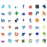 Social network icons colored Stock Photo